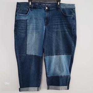 NWOT Lane Bryant Patchwork Capri Pants size 20
